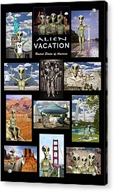 Alien Vacation - Poster Acrylic Print by Mike McGlothlen