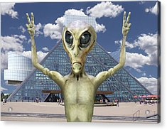Alien Vacation - R And R Hall Of Fame Acrylic Print by Mike McGlothlen