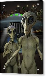 Alien Vacation - The Arrival  Acrylic Print by Mike McGlothlen