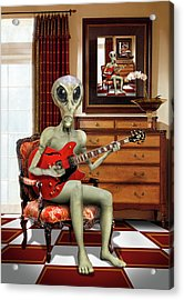 Alien Vacation - We Roll With Jazz Acrylic Print by Mike McGlothlen