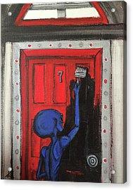 Alien Wants It Painted Black Acrylic Print