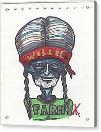 alien Willie Nelson Acrylic Print