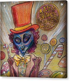 Alien Wonka And The Chocolate Factory Acrylic Print