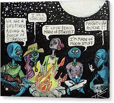 Aliens By The Campfire Acrylic Print
