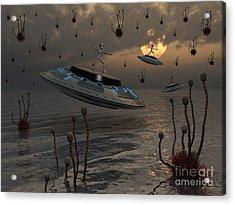 Aliens Celebrate Their Annual Harvest Acrylic Print by Mark Stevenson