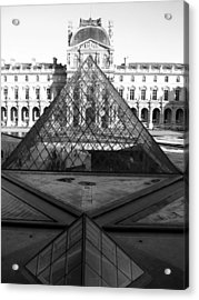 Aligned Pyramids At The Louvre Acrylic Print