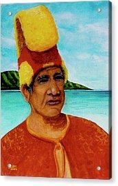 Alihi Hawaiian Name For Chief #295 Acrylic Print by Donald k Hall