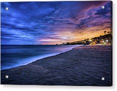 Aliso Beach Lights Acrylic Print