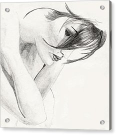 Acrylic Print featuring the drawing Alison by Michael McKenzie