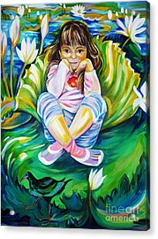 Acrylic Print featuring the painting Alissa by Anna  Duyunova