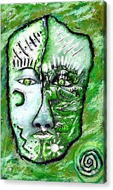 Acrylic Print featuring the painting Alive A Mask by Shelley Bain