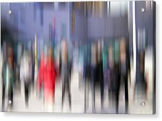 Alive In The City 3 - Going To The Train Acrylic Print