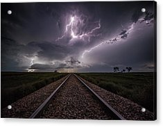 Acrylic Print featuring the photograph All Aboard  by Aaron J Groen