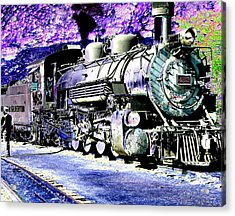 All Aboard Acrylic Print by Peter  McIntosh
