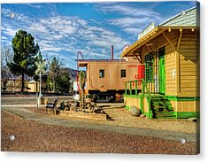 All Aboard Acrylic Print by Stephen Campbell
