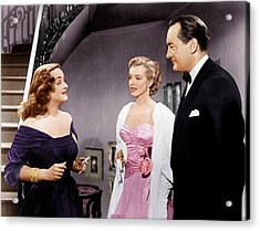 All About Eve, From Left Bette Davis Acrylic Print by Everett