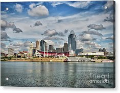 All American City 2 Acrylic Print by Mel Steinhauer