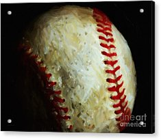 All American Pastime - Baseball - Painterly Acrylic Print by Wingsdomain Art and Photography