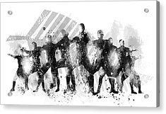 All Blacks Haka Acrylic Print by Marlene Watson