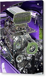 All Chromed Engine With Blower Acrylic Print