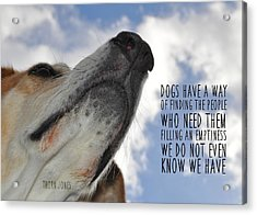 All Dogs Go To Heaven Quote Acrylic Print