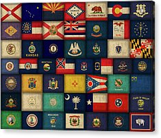 All Fifty States Of The United States Flags Art Acrylic Print