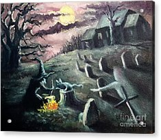 All Hallow's Eve Acrylic Print by Randy Burns