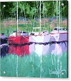 All In A Row Acrylic Print by Leslie Saeta