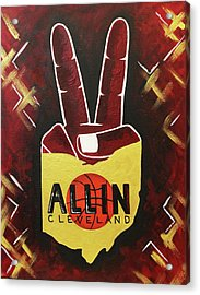 All In Acrylic Print by Allison Liffman