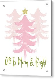 All Is Merry And Bright- Art By Linda Woods Acrylic Print