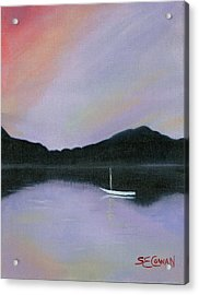 All Is Still Acrylic Print by SueEllen Cowan