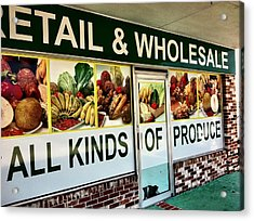All Kinds Of Produce Acrylic Print by Carlos Avila