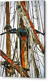 All Masts Acrylic Print by Karo Evans