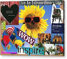 All Of Life Can Inspire Acrylic Print