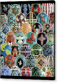 All Ostrich Eggs Collage Acrylic Print