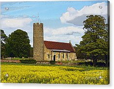 All Saints Frostenden. Acrylic Print by Stan Pritchard