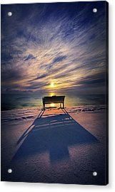 All Shadows Chase Swift Acrylic Print by Phil Koch