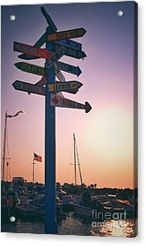 All Signs Point To Sunset Acrylic Print by Mark David Zahn Photography
