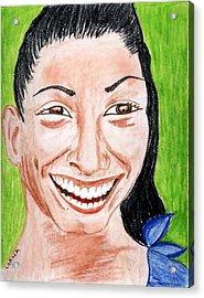 All Smiles Acrylic Print
