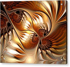 All That Gold Acrylic Print