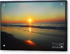 All That Shimmers Is Golden Acrylic Print