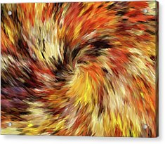 All The Colors Of An Autumn Day Abstract Acrylic Print