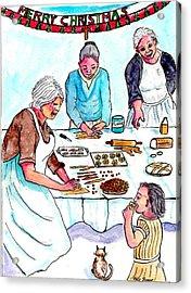 All The Girls Baking For Christmas Acrylic Print