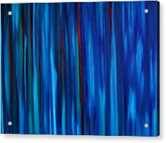 All The Lonely People Number One Rainy Downtown Crosswalk Acrylic Print by Brian Broadway