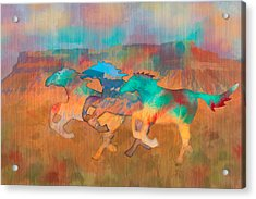 Acrylic Print featuring the digital art All The Pretty Horses by Christina Lihani