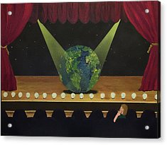 All The World's On Stage Acrylic Print by Thomas Blood
