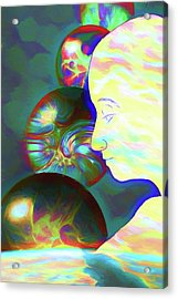 Acrylic Print featuring the digital art All These Worlds Are Yours by John Haldane
