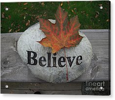 All Things Are Posssible Acrylic Print by Deborah Finley