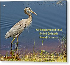 All Things Great And Small Acrylic Print