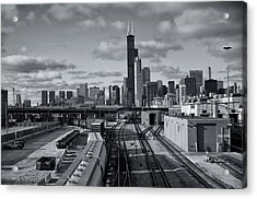 All Tracks Lead To Chicago Acrylic Print